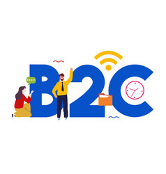 B2c business to consumer concept targeting vector