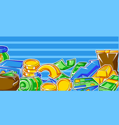 Banking background with money icons business vector