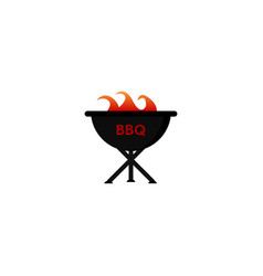 bbq icon barbecue vector image