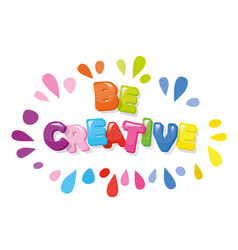 be creative cartoon colorful letters vector image