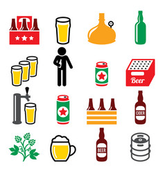 beer brewery drinking alcohol in pub icon vector image
