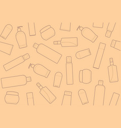 bottles of cosmetic products vector image