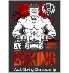 Boxing Club Logo Emblem Label Badge T-Shirt vector image