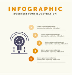 Bulb idea light hotel infographics presentation vector