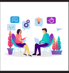 Business consulting flat vector