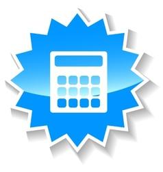 Calculator blue icon vector