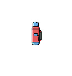 camping thermos flat icon vector image