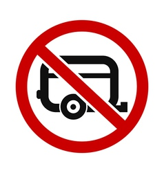 Caravans Not Allowed vector
