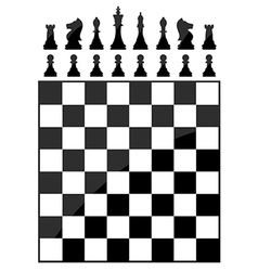Chess table vector