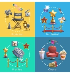 Cinema concept set vector