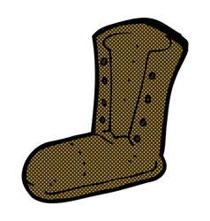 Comic cartoon old boot vector
