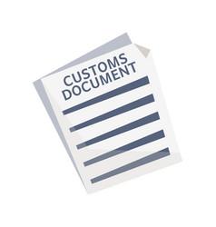 customs document icon vector image