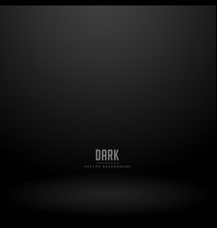 Dark studio room background vector