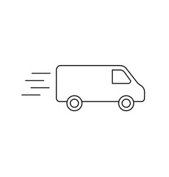 Delivery truck isolated vector