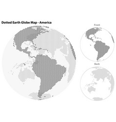 dotted earth globe with central view of america vector image