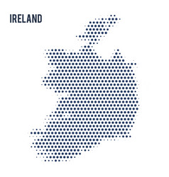 dotted map of ireland isolated on white background vector image