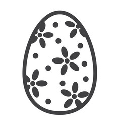 Easter egg line icon easter and holiday vector