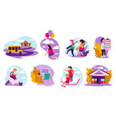 education and obtaining knowledge at school kids vector image