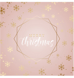 elegant christmas background with gold snowflakes vector image