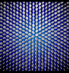 Eps10 symmetry crystals on a blue vector
