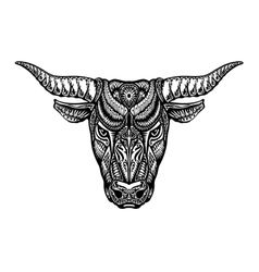 Ethnic ornamented bull ox or minotaur taurus vector