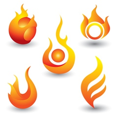 Fire flames symbol icon vector