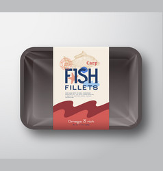 fish fillets pack abstract fish plastic vector image
