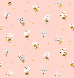 flowers daisy vintage tender colors seamless vector image