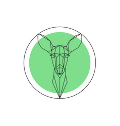 Geometric image of a deer head vector