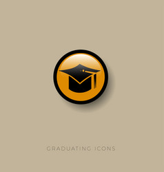 graduation icon student cap vector image