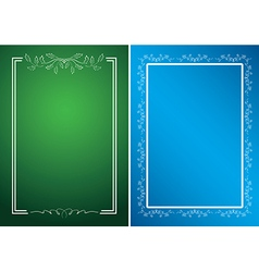 green and blue cards with white frames vector image