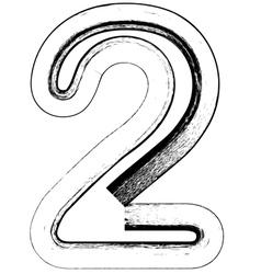 Grunge Font number 2 vector