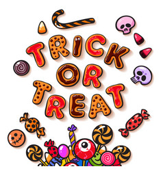 Halloween gingerbread cookies vector