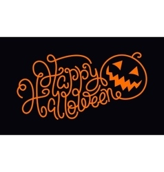 Hand lettering Happy Halloween vector image