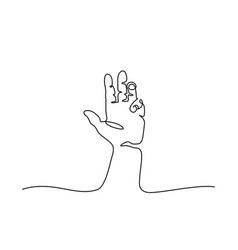 Hand palm with fingers vector