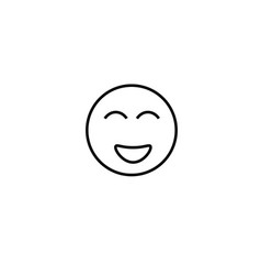 happiest emotion icon vector image