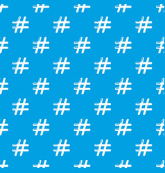 hashtag pattern seamless blue vector image
