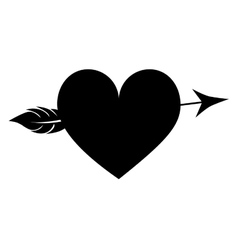 Heart cartoon with arrow icon image vector