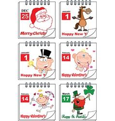 Holiday calendars vector