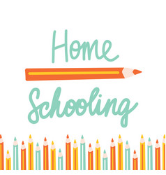 home schooling in flat style vector image