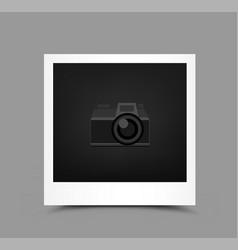 Icon paper photo vector
