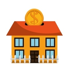 Investment house isolated icon vector