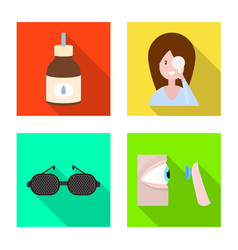 isolated object correction and eyesight sign vector image