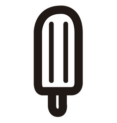 Isolated popsicle outline vector