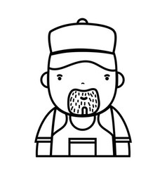 Line man plumber job to service repair vector