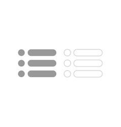 List grey set icon vector
