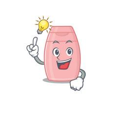 Mascot character smart baby cream has an idea vector