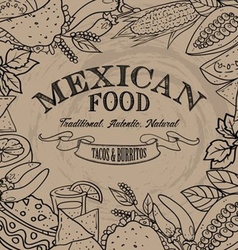 Mexican Food Sign vector image