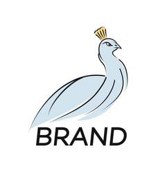 modern bird peacock logo vector image