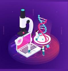 Nanotechnology isometric design concept vector